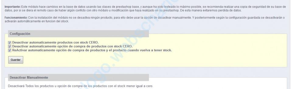 Desactivar productos con stock cero en Prestashop