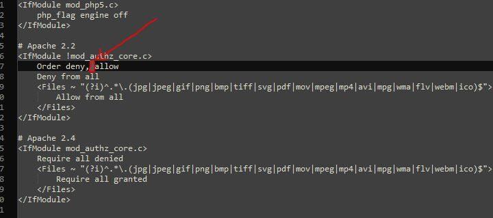 Problema de carga tienda PrestaShop 1.7.4.x por .htaccess